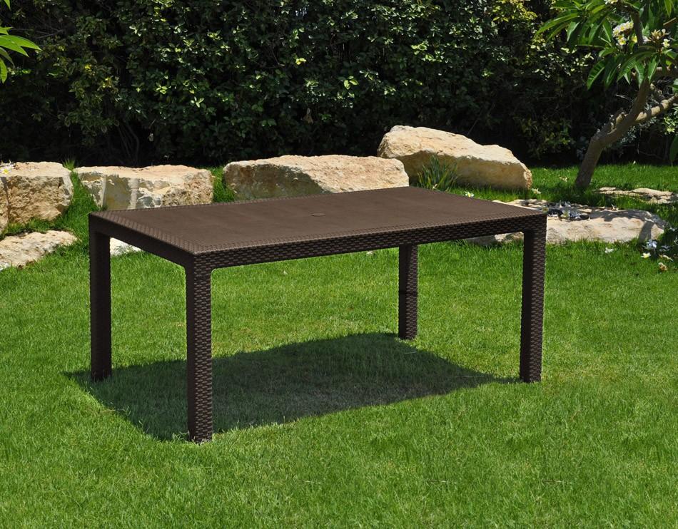 Mesas De Jardin En Rattan Mesa Ideal Para Terraza Melody En Resina