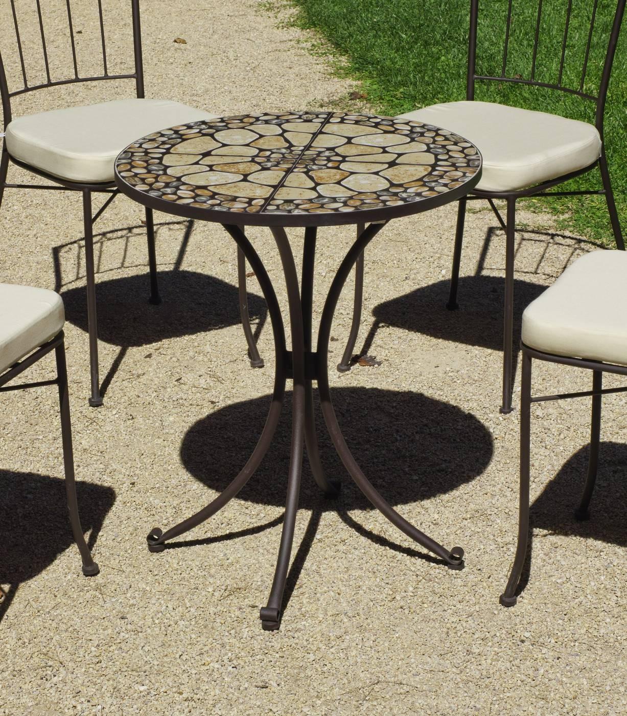 Conjuntos de mesas y sillas de jardin mesa redonda para for Mesas y sillas para terraza