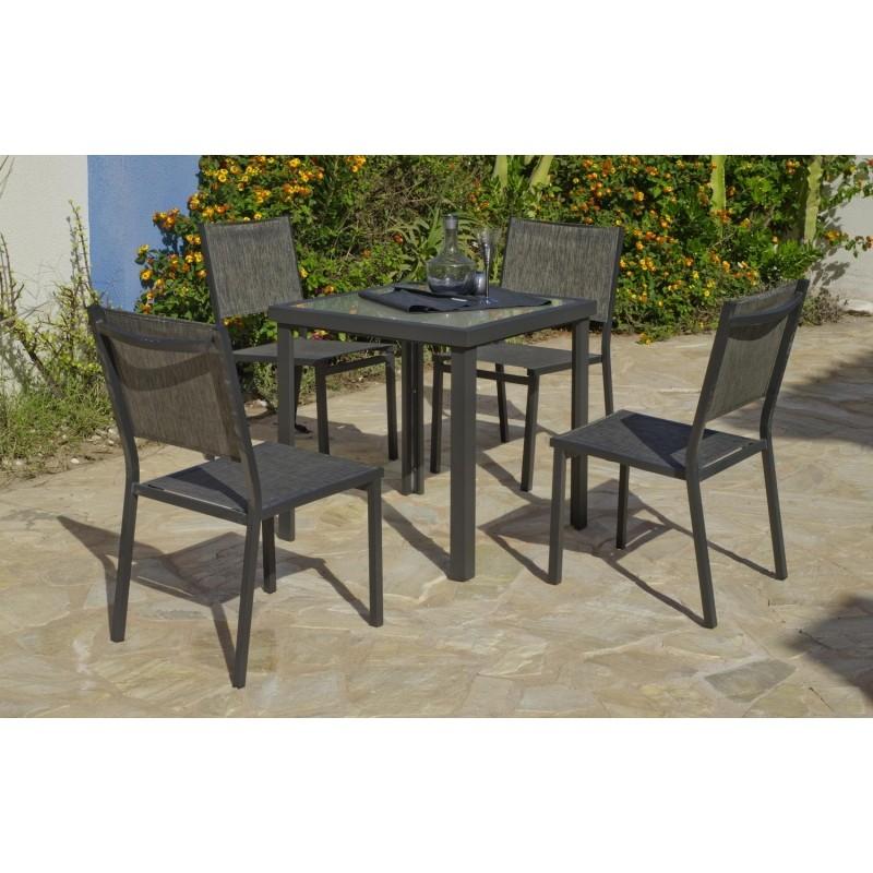 Conjuntos de Mesas y Sillas de Jardin de Aluminio : Conjunto de mesa ...