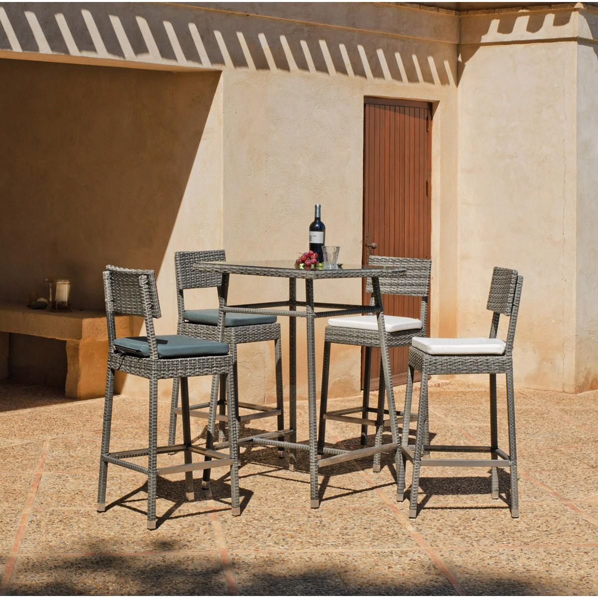 Conjuntos De Mesas Y Sillas De Jardin De Rattan Conjunto De Mesa  ~ Cojines Para Taburetes De Cocina