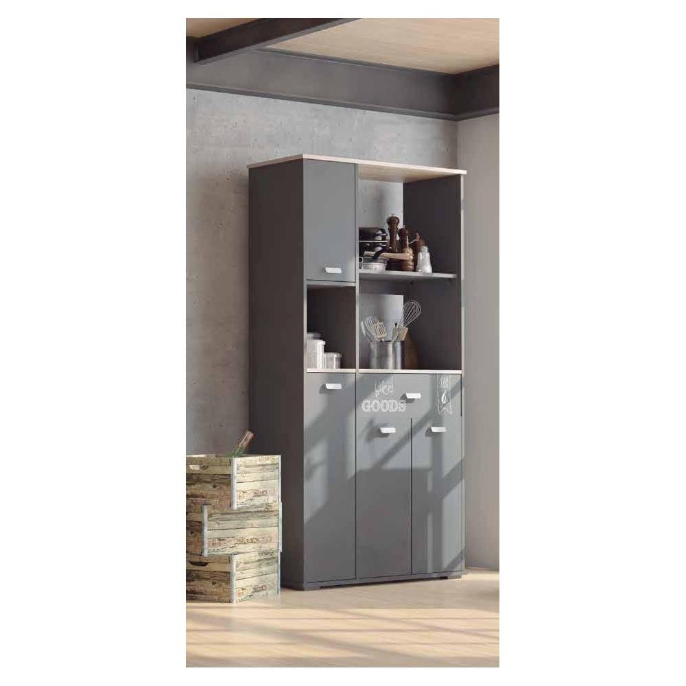 Muebles Auxiliares de Cocina: Buffet ASFELD gris grafito