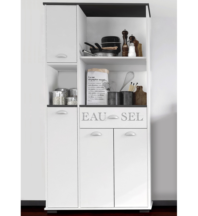 Mueble de cocina : Buffet Asfeld 4 Puertas y 6 Estantes K101-BT