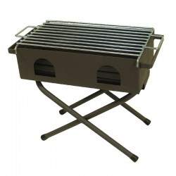 Barbacoa plegable con parrilla cincada 53X25cm