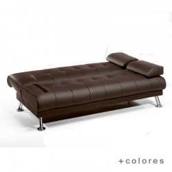 Sofá cama Solver Importa Home color chocolate